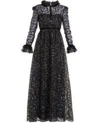 Goat - Giovanna Floral-print Organza Gown - Lyst