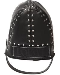 Loewe - Studded Leather Driving Hat - Lyst