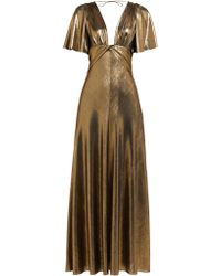 Maria Lucia Hohan - Lilah Metallic Jersey Panelled Maxi Dress - Lyst