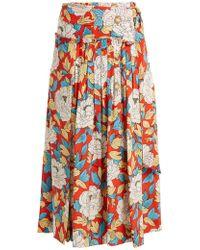Diane von Furstenberg | Boswell Floral-print Silk Wrap Skirt | Lyst