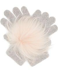 Yves Salomon - Fur-trimmed Gloves - Lyst