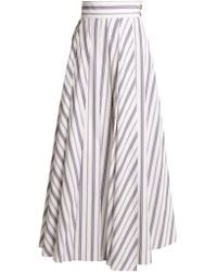 Awake - Striped Cotton Maxi Skirt - Lyst