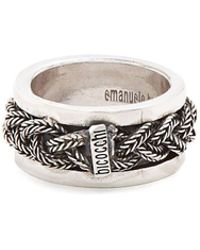 Emanuele Bicocchi - Sterling-silver Braided Ring - Lyst