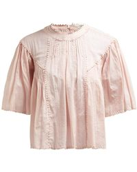 Étoile Isabel Marant Algar Embroidered Cotton Top