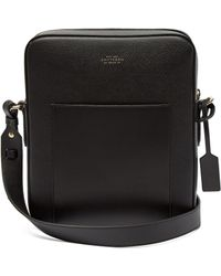 Smythson - Panama Reporter Leather Cross Body Bag - Lyst