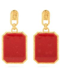 Balenciaga - Marble-effect Gold-plated Clip-on Earrings - Lyst