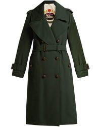 Burberry - Regina Logo Jacquard Wool Trench Coat - Lyst