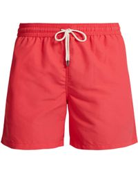 Polo Ralph Lauren - Logo Embroidered Swim Shorts - Lyst