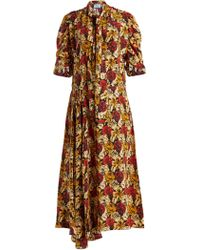 Prada - Marocaine Floral-print Silk Dress - Lyst