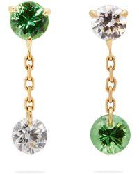 Raphaele Canot - Set Free 18kt Gold, Tsavorite & Diamond Earrings - Lyst