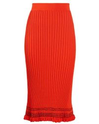 Altuzarra - - Gwendolyn Ribbed Knit Midi Skirt - Womens - Orange - Lyst