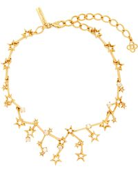 Oscar de la Renta - Constellation Crystal Embellished Necklace - Lyst