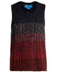M.i.h Jeans - - Clara Pointelle And Cable Knit Vest - Womens - Burgundy Multi - Lyst