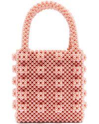 Shrimps - Antonia Faux-pearl Embellished Bag - Lyst