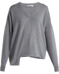 Balenciaga - Cut-out Wool And Cashmere-blend Jumper - Lyst