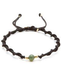 Black Dakini - Moss-agate And Gold-vermeil Bracelet - Lyst