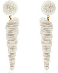 Rebecca de Ravenel - Ophelia Shell And Gold-plated Clip-on Earrings - Lyst