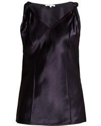 Helmut Lang - Twisted Knot Satin Top - Lyst
