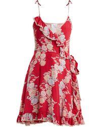 Athena Procopiou - Heartbeats V Neck Floral Print Dress - Lyst