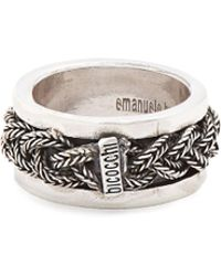 Emanuele Bicocchi - Sterling Silver Braided Ring - Lyst