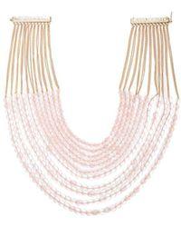 Rosantica By Michela Panero - Carramato Short Beaded Necklace - Lyst
