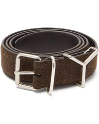 Y. Project - Y Loop Wool And Leather Belt - Lyst