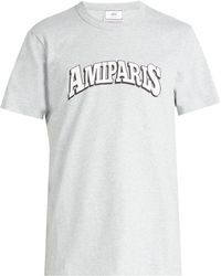 AMI - Paris Print Cotton T Shirt - Lyst
