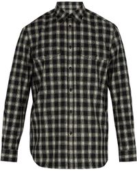 Givenchy - Checked Wool Blend Shirt - Lyst