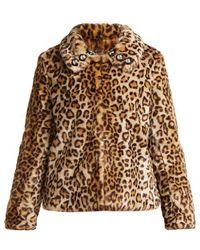 Shrimps - Junior Leopard Print Faux Fur Jacket - Lyst