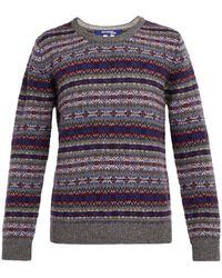 Junya Watanabe - Fair Isle-striped Wool Sweater - Lyst