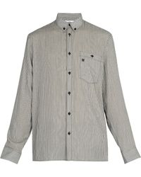 Givenchy - Point Collar Striped Shirt - Lyst