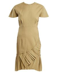 Isabel Marant - Rimba Pleated-hem Linen-blend Dress - Lyst