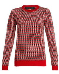 Perfect Moment - Frequency Zigzag-intarsia Wool-knit Sweater - Lyst