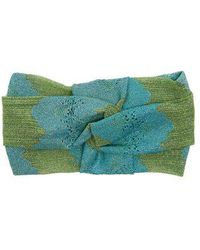 Missoni - Striped Eyelet-knit Headband - Lyst