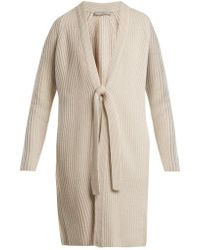 Vince - Ribbed-knit Wool And Cashmere-blend Cardigan - Lyst