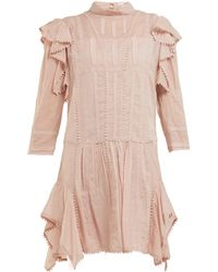 Étoile Isabel Marant Alba Embroidered Cotton Mini Dress