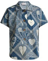 RED Valentino - Short-sleeved Heart-print Shirt - Lyst