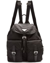 Prada - All Designer Products - Classic Leather-trimmed Nylon Backpack - Lyst