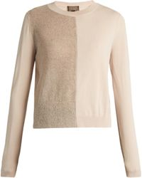 Giambattista Valli - Mohair And Wool-blend Contrast-knit Sweater - Lyst
