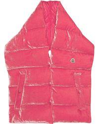 Moncler - Velvet Padded Puffa Scarf - Lyst