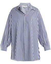 Junya Watanabe - Oversized Striped Poplin Shirt - Lyst