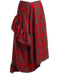 Preen By Thornton Bregazzi - Morgan Tartan Wool Midi Skirt - Lyst