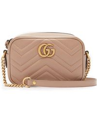 aaba5a673651ae Lyst - Gucci Gg Marmont Mini Quilted-leather Shoulder Bag in Green