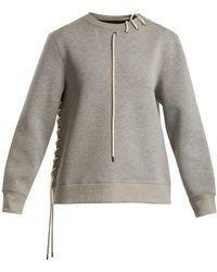 Craig Green - Crew-neck Lace-up Jersey Sweatshirt - Lyst