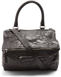 a3a530b3317 Lyst - Givenchy Medium Pandora Creased Patent Leather Shoulder Bag ...