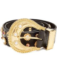 Dodo Bar Or - Donatella Embellished Leather Belt - Lyst