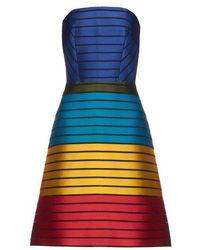 Mary Katrantzou - 'freesia' Striped Bustier Dress - Lyst