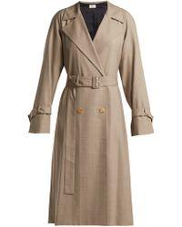 The Row - Nueta Wool Trench Coat - Lyst
