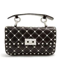 Valentino - Free Rockstud Spike Small Quilted-leather Bag - Lyst