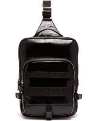 Balmain - One-shoulder Cross-body Leather Backpack - Lyst